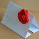 Plic DL personalizat cu floare rosie