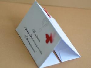 Plic DL personalizat cu fluturi rosii - lateral