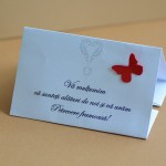 Plic DL personalizat cu fluturi rosii